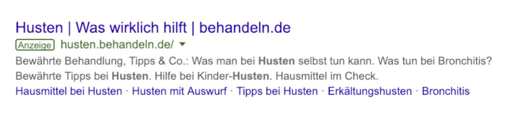 Snippet Beispiel Google
